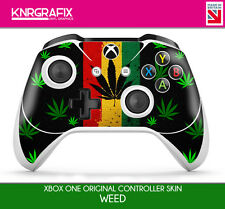 KNR3348 WEED PREMIUM XBOX ONE S CONTROLLER SKIN STICKER DECAL