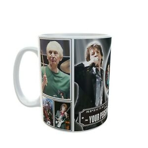 Personalised YOUR NAME ROLLING STONES Icon Legend Ceramic Coffee Cup Mug Gift