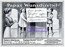 Zigaretten Salem Aleikum Reklame 1911 Wunschzettel Kinder Zietz Yenidze Dresden+