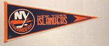 Vintage 1980s New York Islanders NHL Hockey Official Felt Pennant 12x30