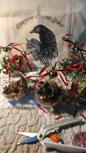 Yule Tree Bauble Altar Offering, Herbs, Christmas, Wicca, Pagan, Yorkshire, UK