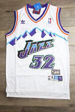 Karl Malone  32 Utah Jazz Jersey White Throwback White Vintage Classic New  Retro c77fd4b55