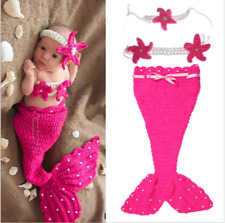 Newborn Baby Girls Rose Cute Crochet Knit Costume Prop Photo Photography Outfits