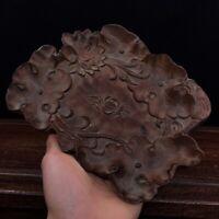 """8"""" China old antique huanghuali wood handcarved bursh washer"""