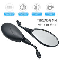 2x BLACK REAR VIEW MIRRORS QUAD MOTORCYCLE SCOOTER ELECTRIC VEHICLE MIRROR 8MM