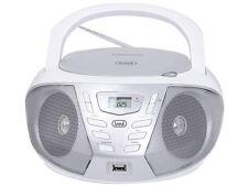 TREVI PORTATILE BLUETOOTH STEREO Boombox CD MP3 USB FM AUX BIANCO CONSEGNA GRATUITA