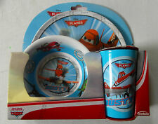 Disney PLANES 3pc Breakfast Set - Melamine Mealtime - Tumbler, Plate, Bowl