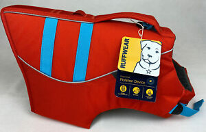 New Ruffwear Life Jacket For Dogs Adjustable Fit Size Medium Red #45102-601M
