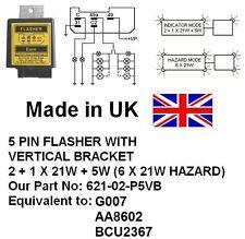 621-02-P5VB 24V 5 PIN FLASHER Equivalent: G007, AA8602, BCU2367