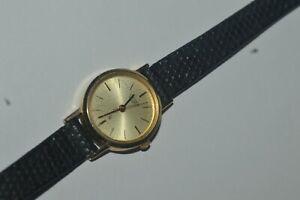 Vintage Citizen Watch 5930-T15740 Quartz Ladies 21 mm Works Fine 8 Inch Strap