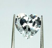 White Sapphire 6.45 Carat Heart Shape Gemstone Natural VS Clarity AGSL Certified