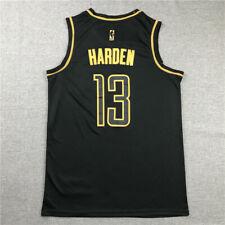 James Harden #13 Houston Rockets Camiseta Jersey Baloncesto Edición Oro Negro