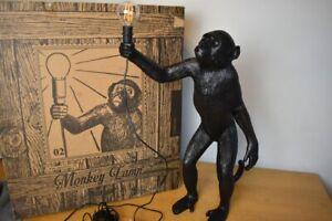 Seletti Standing Monkey Table Lamp, Black