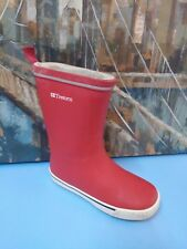Tretorn Mens Red Rubber Rainboots Rain Boots Outdoor Shoes - SZ 3.5/35