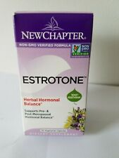 New Chapter Estrotone, Herbal Hormonal Balance 30 vegetarian capsules.FREE SHIPP