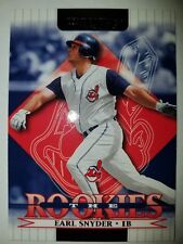 2002 Donruss Rookies #33 Earl Snyder RC Rookie Card NM Cleveland Indians
