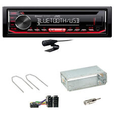 JVC KD-T702BT Bluetooth USB CD Autoradio Einbauset für Peugeot 206 206 CC
