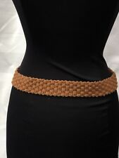 Ladies Woven Hippy Summer Brown Belt
