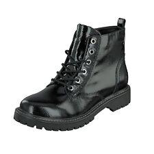 Jane Klain Woman Damen Schuhe Lack Boots Stiefel Schnürer 252-366 Black Lack NEU
