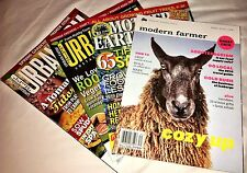 LOT of 4 HOBBY FARMS presents URBAN FARM, MOTHER EARTH NEWS, MODERN FARMER