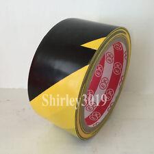 New listing Yellow&Black Stripe Pvc Hazard Warning Tape Caution Self-adhesive Tape 4.8cm*20Y