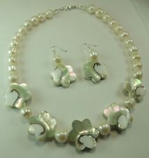 Nautilus Shell & Pearl Statement Necklace & Earring Set Handcrafted Wedding