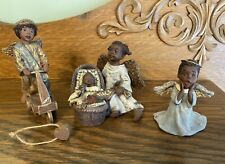 Lot 3 Sarah's Attic Black African American Angels Casey, Heavenly Peace, Pitter