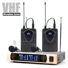 Lavalier Tie Clip On Wireless Microphone System Cordless Mic Karaoke Singing Ktv