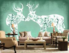 3D Fragment Deer S181 Wallpaper Mural Self-adhesive Removable Sticker Kids Su