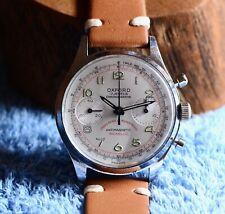 1960s Vintage Oxford Chronograph Watch Venus 188 Breitling Wittnauer Wakmann Era