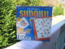 The Original Sudoku Game 100 Puzzles & Wood Playing Pieces~Factory Sealed!