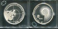 "PORTUGAL 2004 - 8 Euro in Silber, PP - EU-Erweiterung ""Europa Stern"""