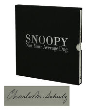 SNOOPY Not Your Average Dog ~ CHARLES SCHULZ ~ Signed Limited First Edition 1st