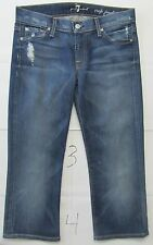 7 For All Mankind Jeans Women's Crop Josefina Skinny Boyfriend Size 25 Blue