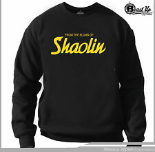 WU TANG CLAN FROM  SLUMS OF SHAOLIN CREW NECK SWEATER CLASSIC HIP HOP  HOODIE
