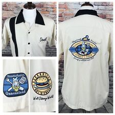 Walt Disney World Donald's Diner Donald Duck Bowling Shirt Button SS Mens Medium