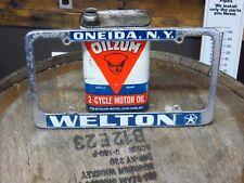 Chrysler Plymouth Vintage license plate frame Welton NY