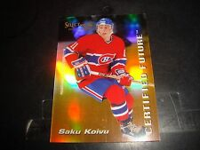 Saku Koivu 1995-96 Select Certified Future Insert #5 Card Canadiens NM/M