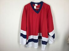 Vintage blank CCM hockey jersey New York Rangers USA XXL red white blue