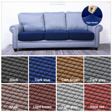 1/2/3/4 Seater Stretch Sofa Covers Slipcover Settee Couch Cushion Protector Grey