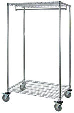 "Mobile wire garment rack 24"" x 48"" x 69""  1 EA"