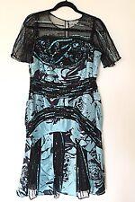 Sherry Haute Couture Dress Sz 8 Teal Black