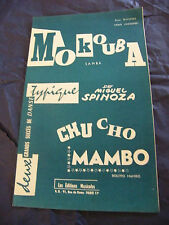 Partitura Mokouba Miguel Spinoza Cho Chu Mambo 1961 Music Sheet