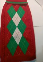 Wag-a-Tude Dog Sweater Red,Green,&White Size XXL (25 Inches Longx 12 Inches Wide