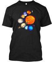 Solar System Sun Planets Milky Way Galaxy Science Hanes Tagless Tee T-Shirt
