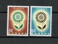 S34126 Island Iceland MNH 1964 Europa 2v