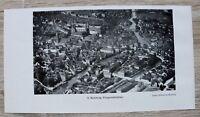 1 Blatt 1929 Bamberg Fliegeraufnahme Straßen Häuser Gebäude +++ Ofr 23x12cm