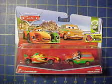 DISNEY PIXAR CARS RIP CLUTCHGONESKI & BRIAN GEARLOOSKI!  WGP 2 CAR SET!  NIP