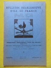 Bulletin Folklorique d'Ile-de-France 1956 Crépy-en-Valois corne de cerf Cergy