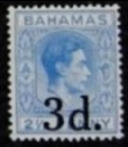 Bahamas - 1940 - Sc 115 - 3p on 2.5p Ultramine KGVI VF MH